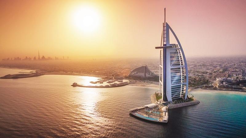 Das luxuriöse Hotel Burj Al Arab