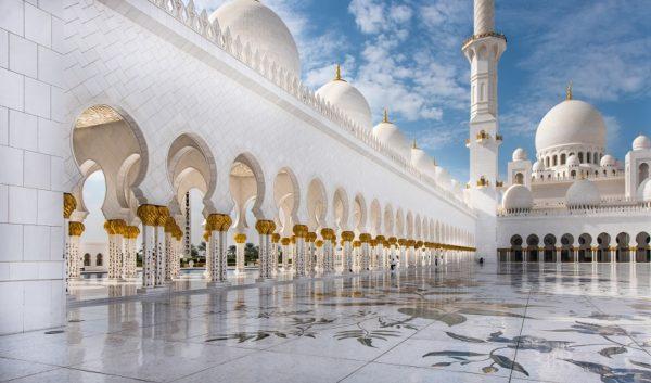 Die Grosse Moschee von Abu Dhabi