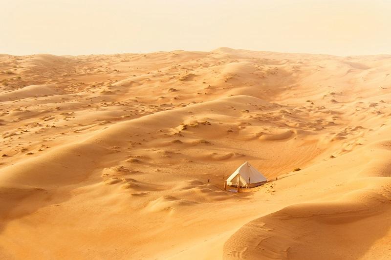 Glamping in der Wüste