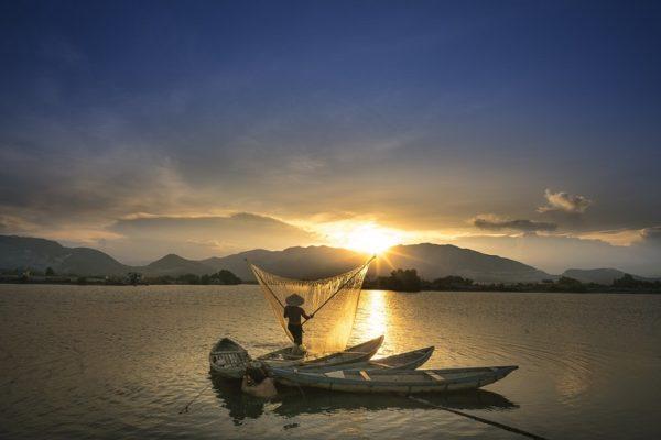 Sonnenuntergang Mekongfluss