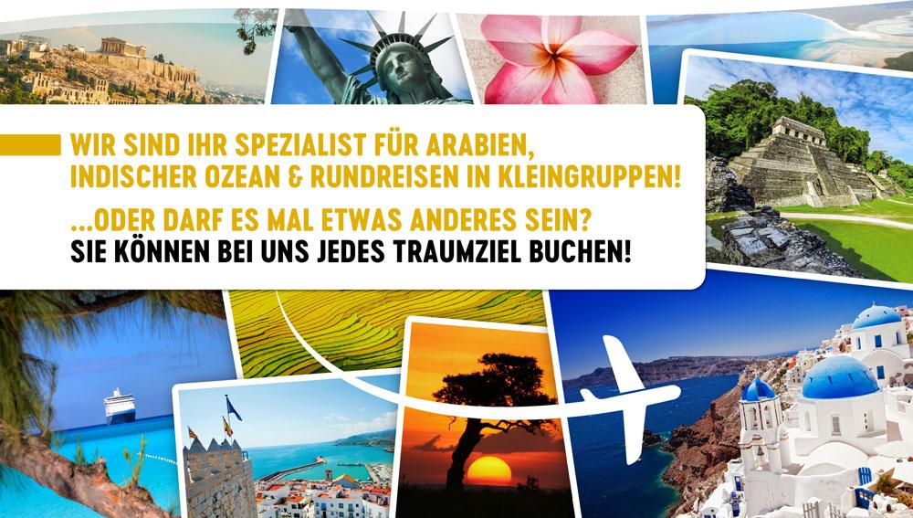 Wir buchen Ihre Traumferien zum günstigen Preis! Unsere Resiseexperten sind Ihnen bei der Reiseplanung gerne behilflich.