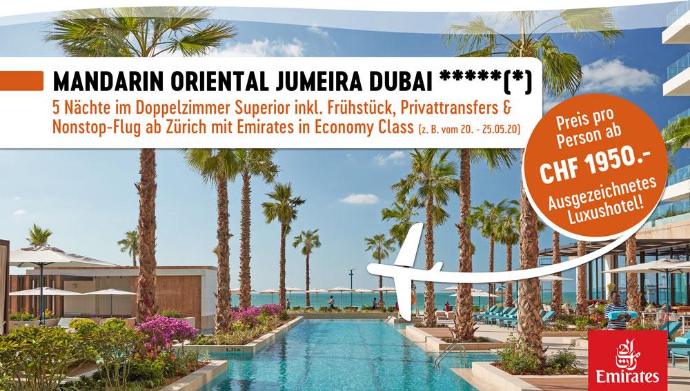 Mandarin Oriental Dubai mit Emirates